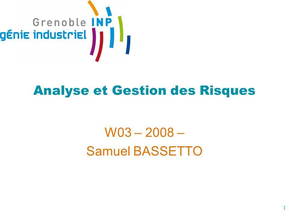 2 Analyse et gestion des risques 1.Introduction au risque .
