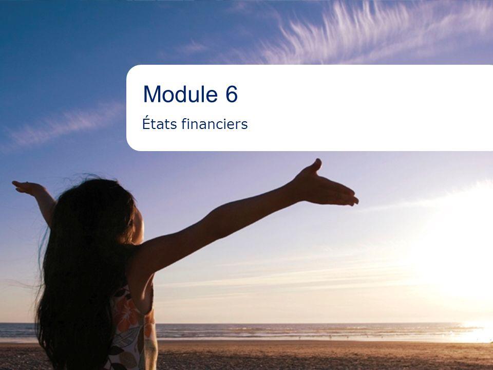 2Aboriginal Banking Module 6 - Objet >Montrer la « santé » financière de l entreprise sur une période donnée >Afficher l historique des résultats de l entreprise >Souligner tout changement aux coûts, au chiffre daffaires, à la stratégie d entreprise, etc.