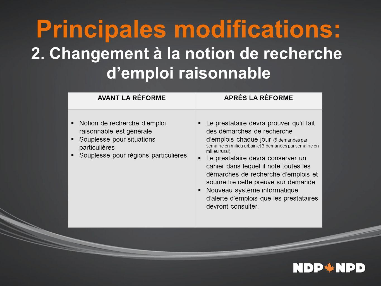 Principales modifications: 3.