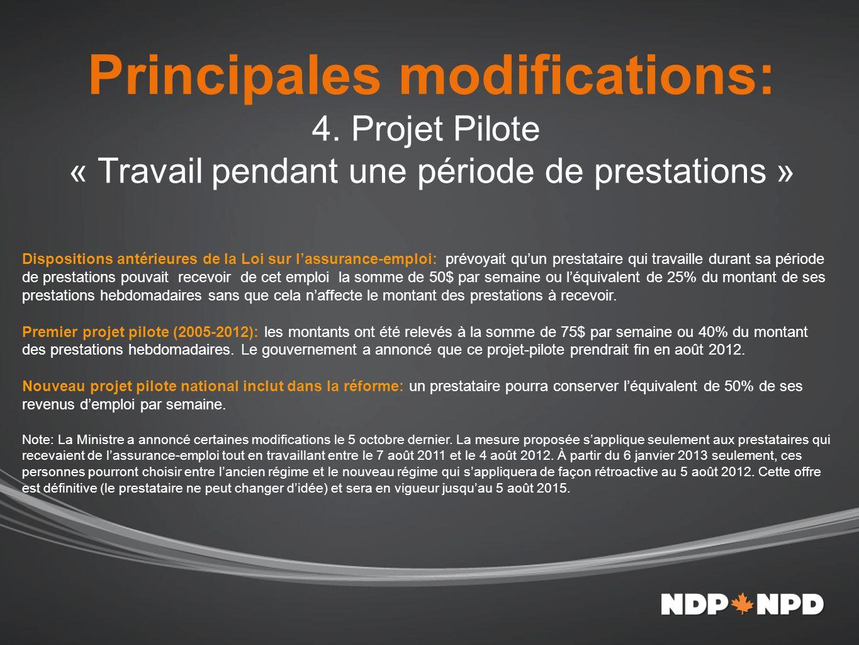 Principales modifications: 4.