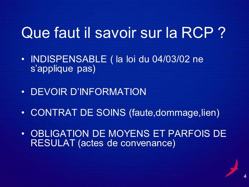 4 Que faut il savoir sur la RCP .
