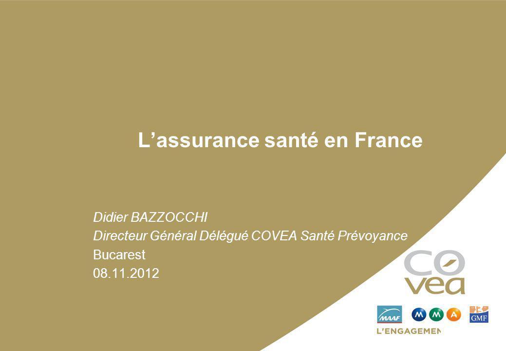Lassurance santé en France Didier BAZZOCCHI Directeur Général Délégué COVEA Santé Prévoyance Bucarest 08.11.2012