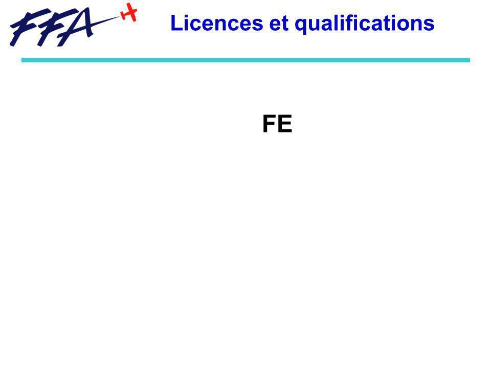 FE Licences et qualifications