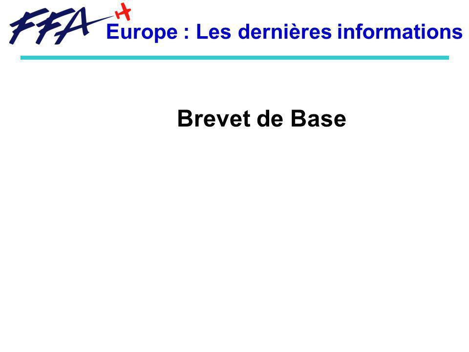 Brevet de Base -Pour les titulaires du BB : après le 8 avril 2015 leur BB sera automatiquement converti en LAPL à privilèges restreints (avec maintien des autorisations additionnelles) - Futur du BB : La France (FFA + Autorité) souhaite conserver le BB ou quelque chose déquivalent.