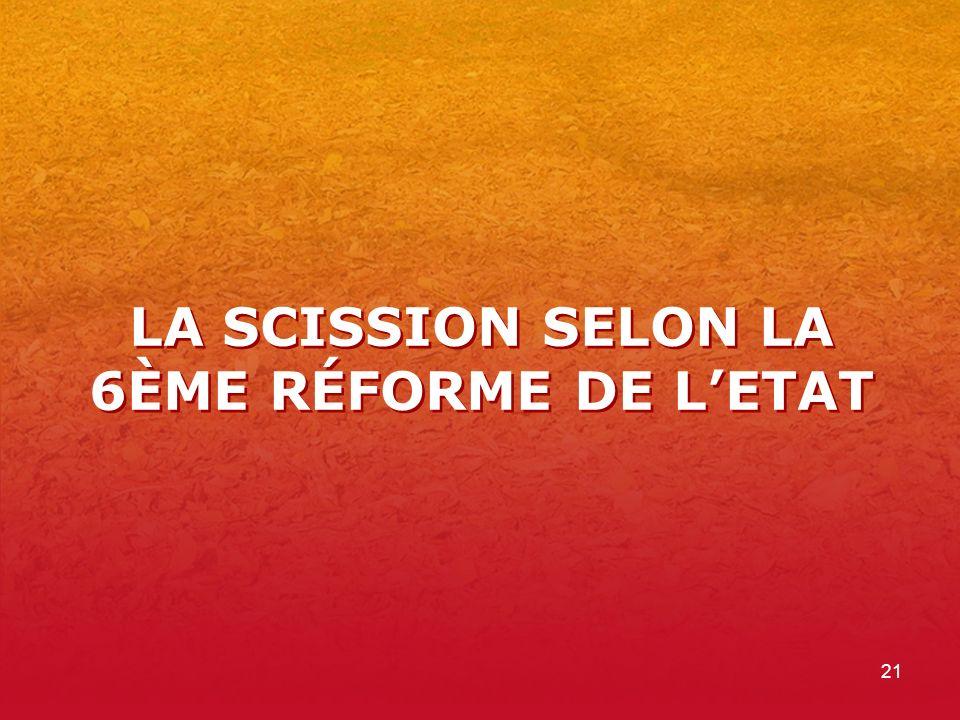 21 LA SCISSION SELON LA 6ÈME RÉFORME DE LETAT