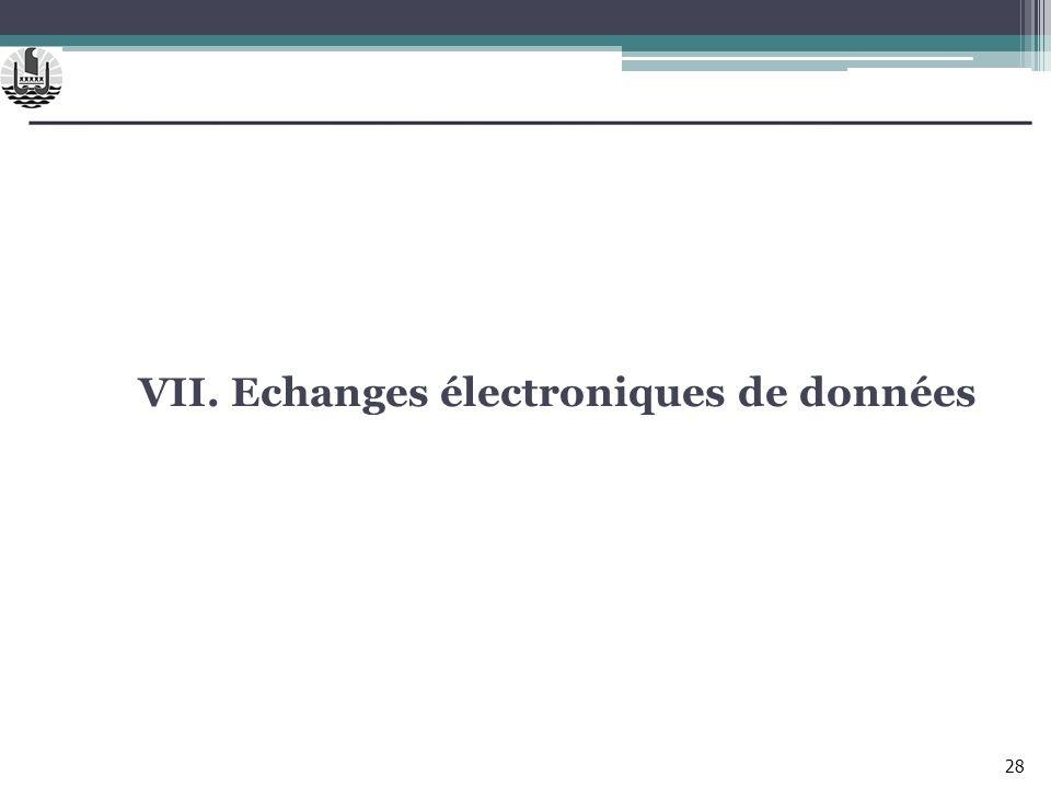VII. Echanges électroniques de données 28