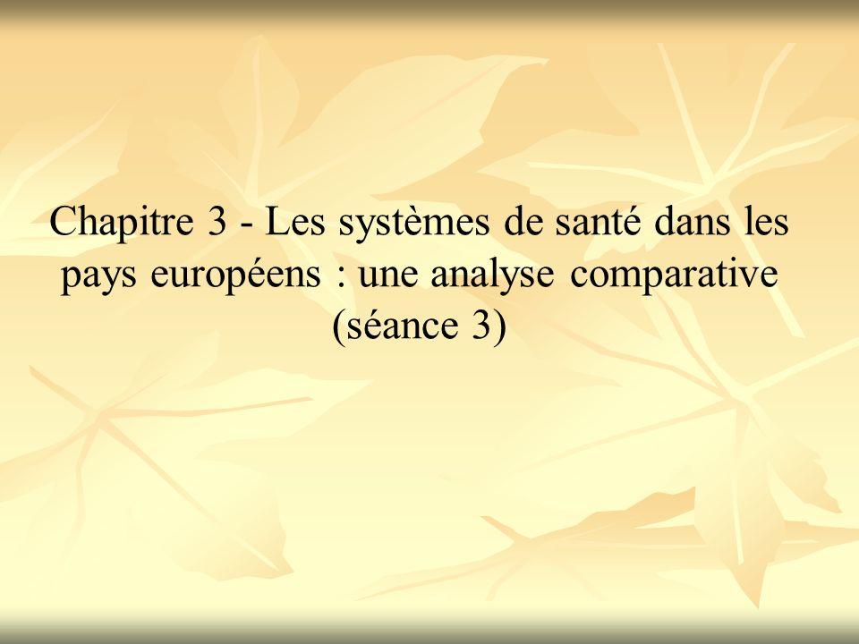 Chapitre 3 - Les systèmes de santé dans les pays européens : une analyse comparative (séance 3)