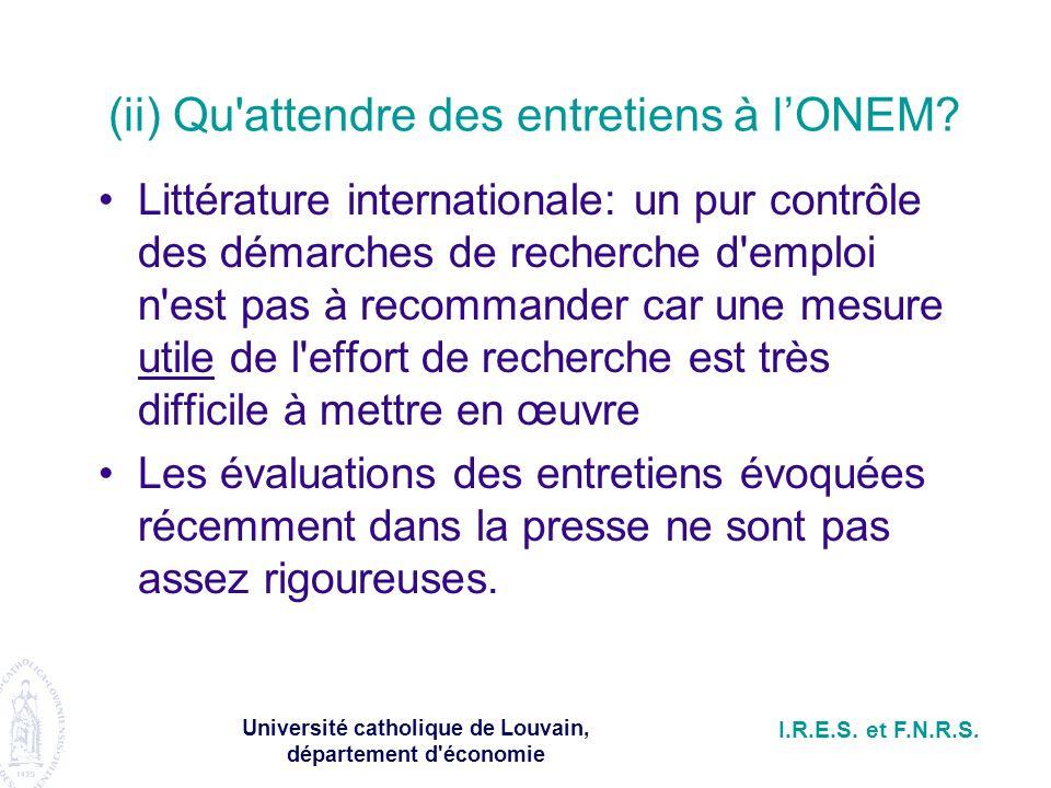 Université catholique de Louvain, département d économie I.R.E.S.