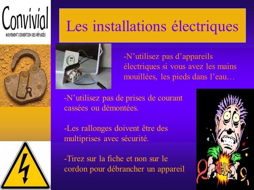 Sécurité dans le logement -Les installations électriques -Les dangers domestiques -Le monoxyde de carbone -Les dangers pour les enfants -Les incendies -Les risques -Le détecteur de fumée -Les numéros durgence