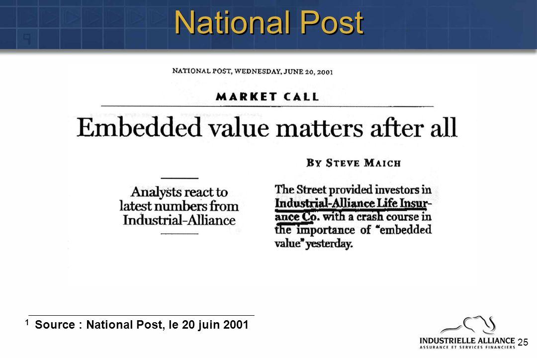 25 National Post 1 Source : National Post, le 20 juin 2001