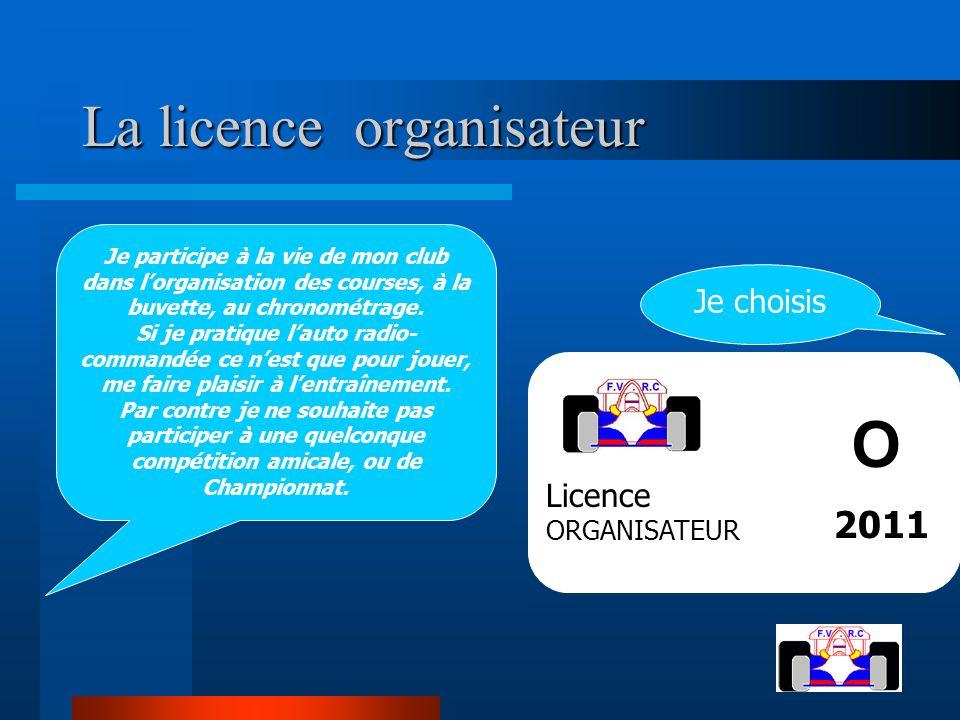 La licence organisateur La licence organisateur Je participe à la vie de mon club dans lorganisation des courses, à la buvette, au chronométrage. Si j