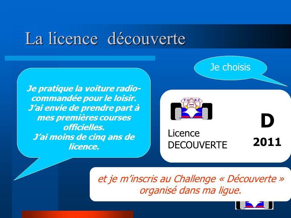 La licence découverte La licence découverte Je pratique la voiture radio- commandée pour le loisir.