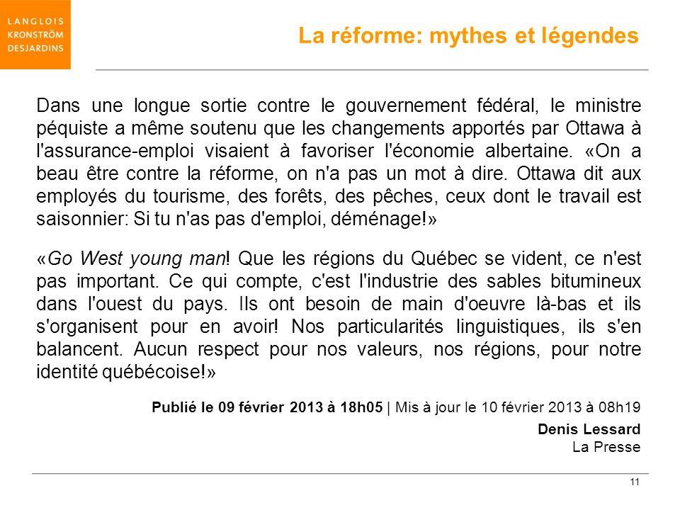 Dans une longue sortie contre le gouvernement fédéral, le ministre péquiste a même soutenu que les changements apportés par Ottawa à l'assurance-emplo