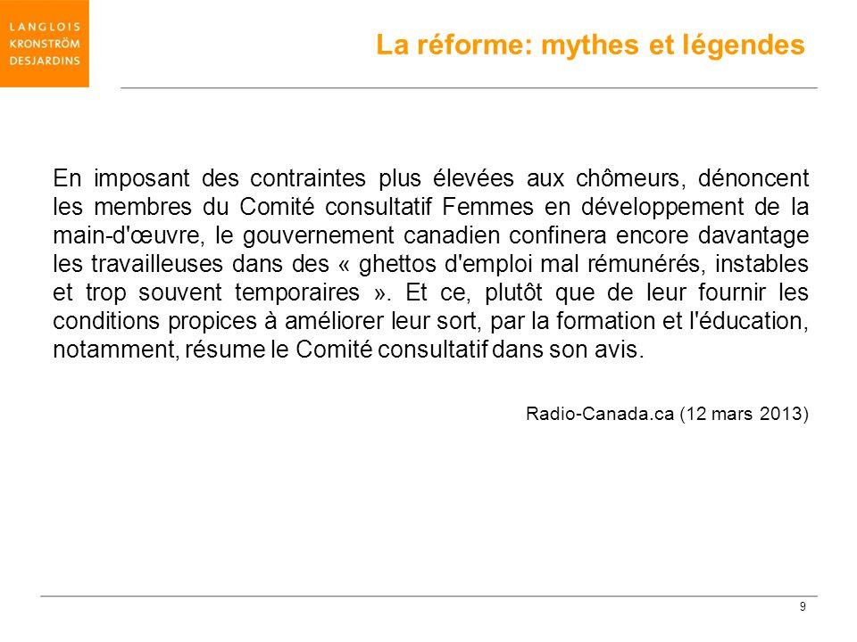 Assurance-emploi: un complot d Ottawa contre le Québec accuse Drainville (Drummondville) Le gouvernement Harper a ourdi un complot pour détruire les régions du Québec, accuse le ministre Bernard Drainville.