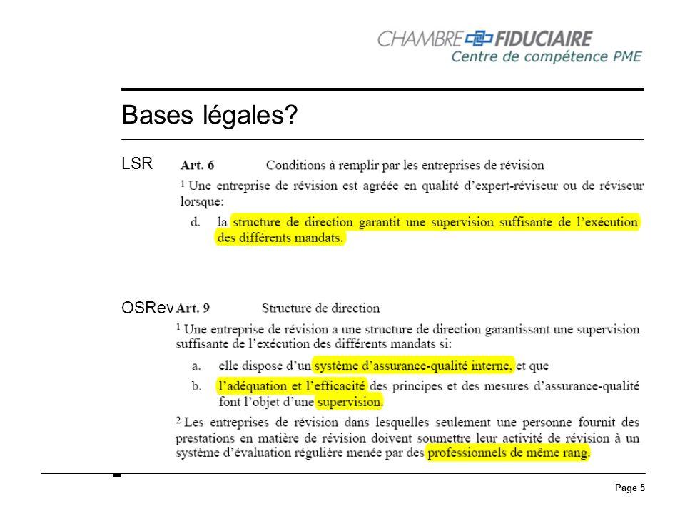 Page 5 Bases légales? LSR OSRev