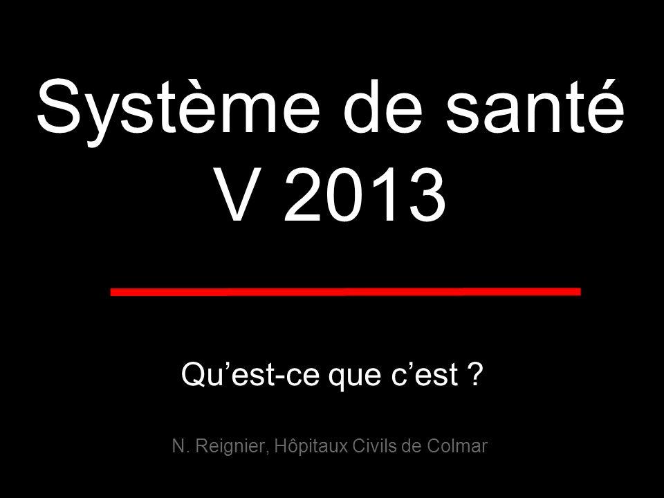 Système de santé V 2013 N. Reignier, Hôpitaux Civils de Colmar Quest-ce que cest ?
