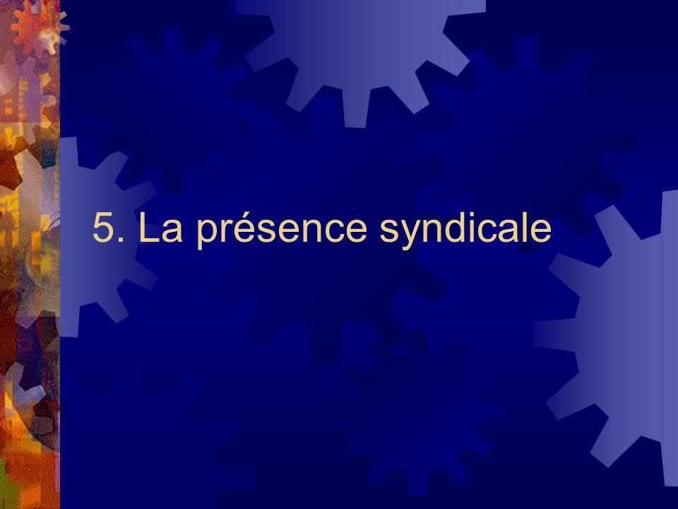 5. La présence syndicale