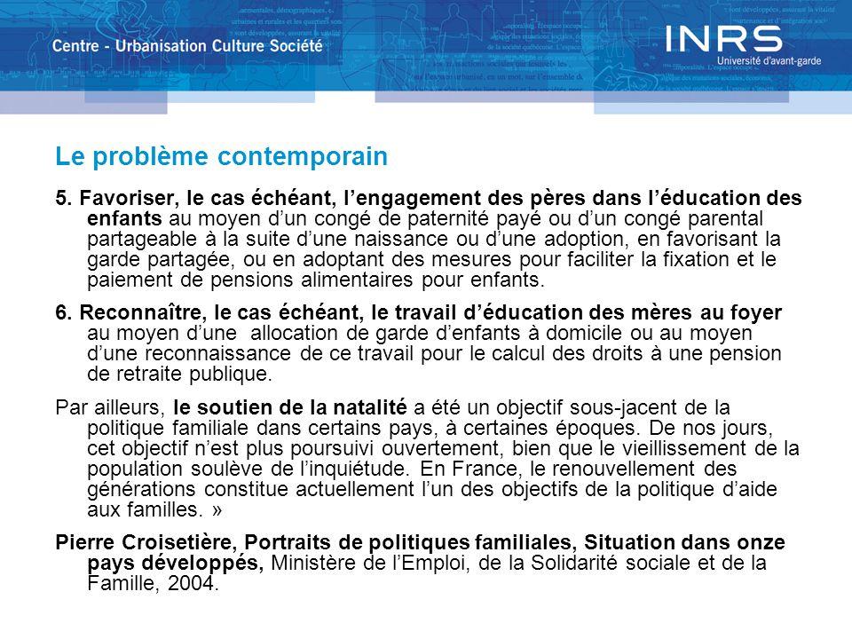 Le problème contemporain 5.