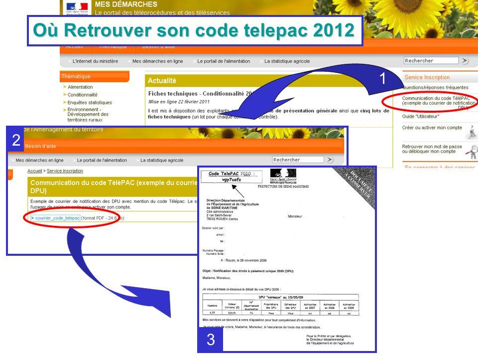 1 2 3 Où Retrouver son code telepac 2012 2012
