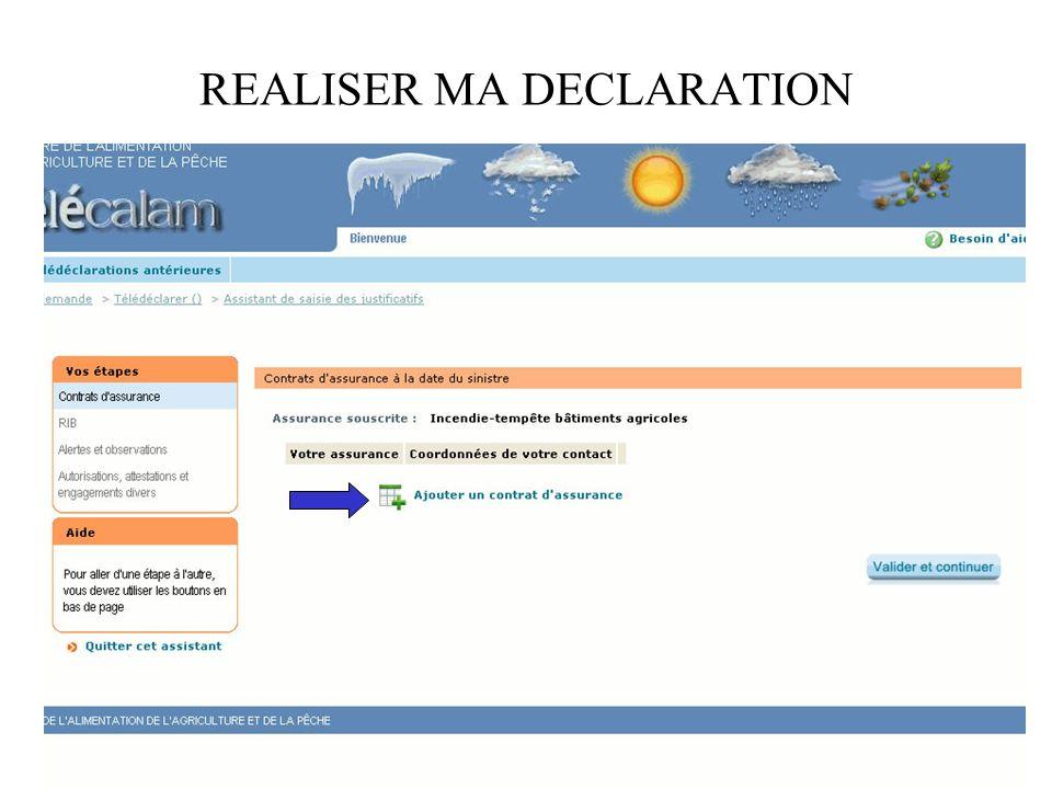 REALISER MA DECLARATION