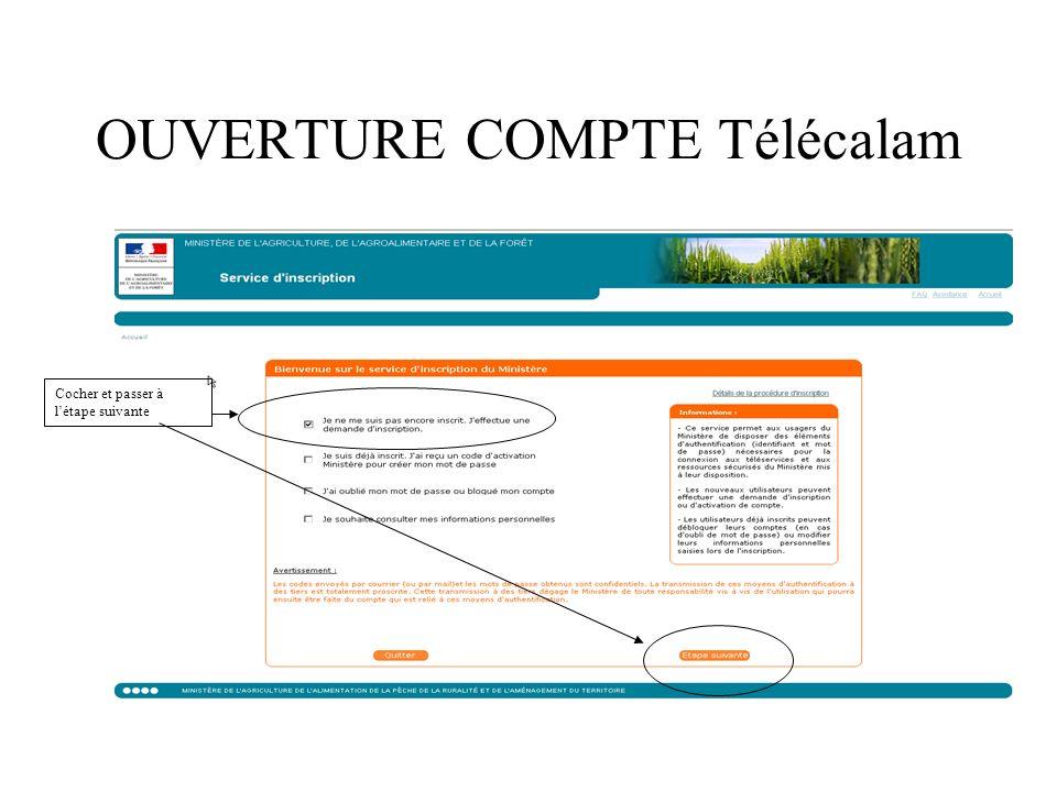 ACCEDER A MA DECLARATION DE SINISTRE via Télécalam Vous avez créé votre compte TéléCALAM.