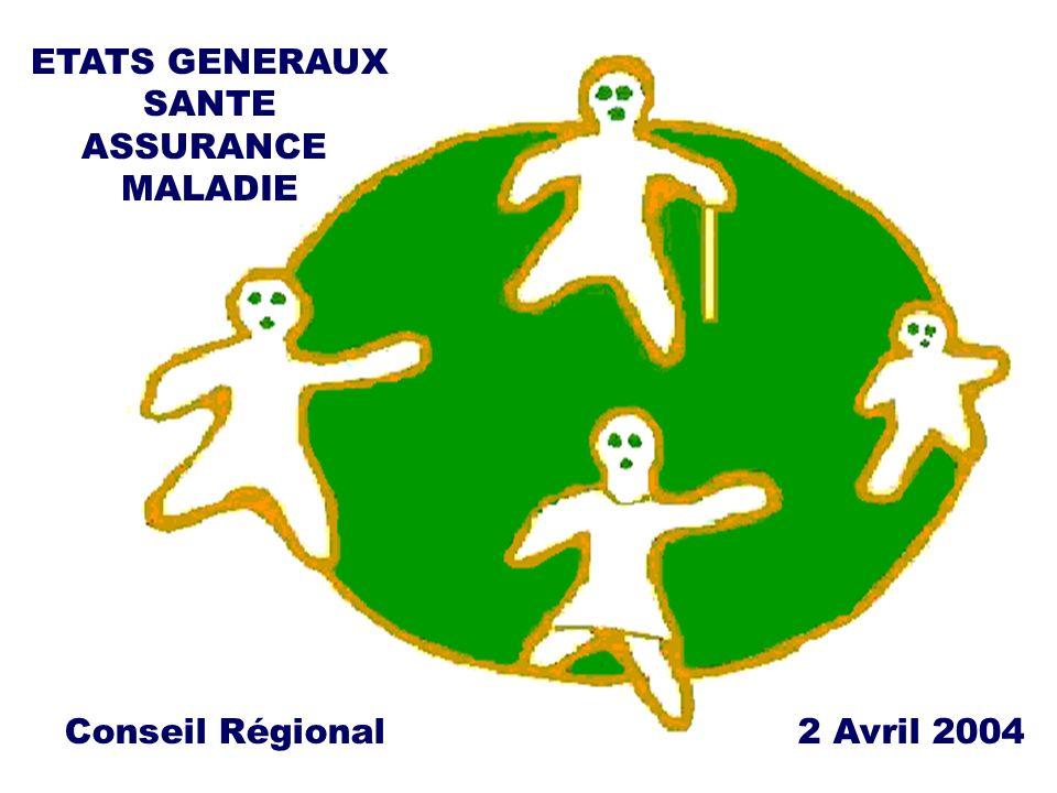 2 ETATS GENERAUX SANTE ASSURANCE MALADIE Conseil Régional 2 Avril 2004