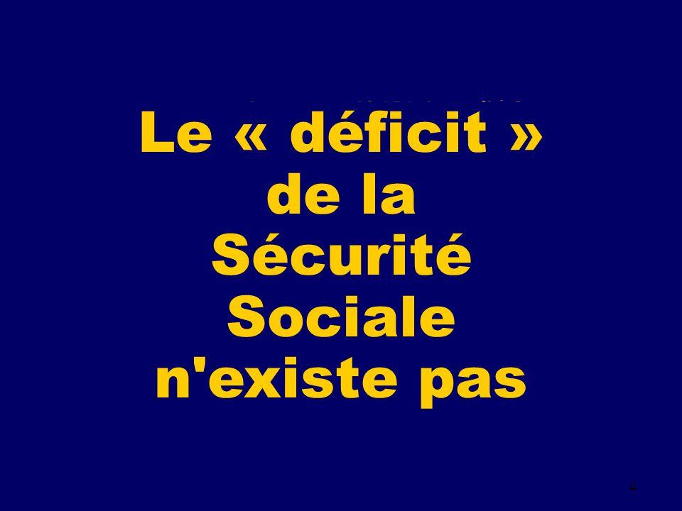 4 Le « déficit » de la Sécurité Sociale n existe pas
