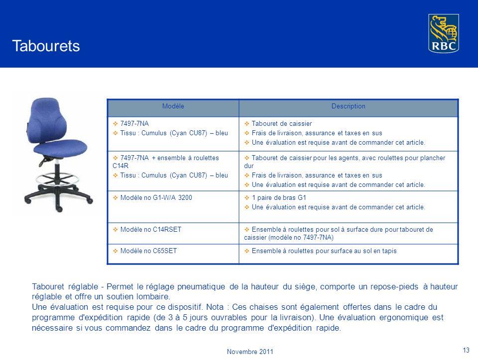 Tabourets ModèleDescription 7497-7NA Tissu : Cumulus (Cyan CU87) – bleu Tabouret de caissier Frais de livraison, assurance et taxes en sus Une évaluation est requise avant de commander cet article.