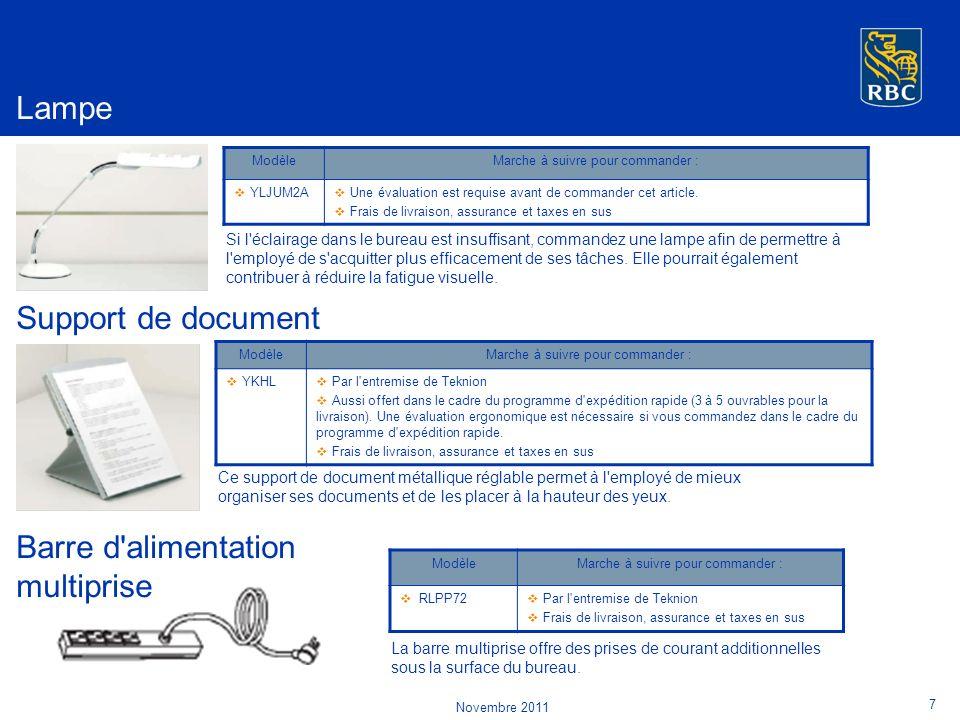 Support de document ModèleMarche à suivre pour commander : YKHL Par l entremise de Teknion Aussi offert dans le cadre du programme d expédition rapide (3 à 5 ouvrables pour la livraison).
