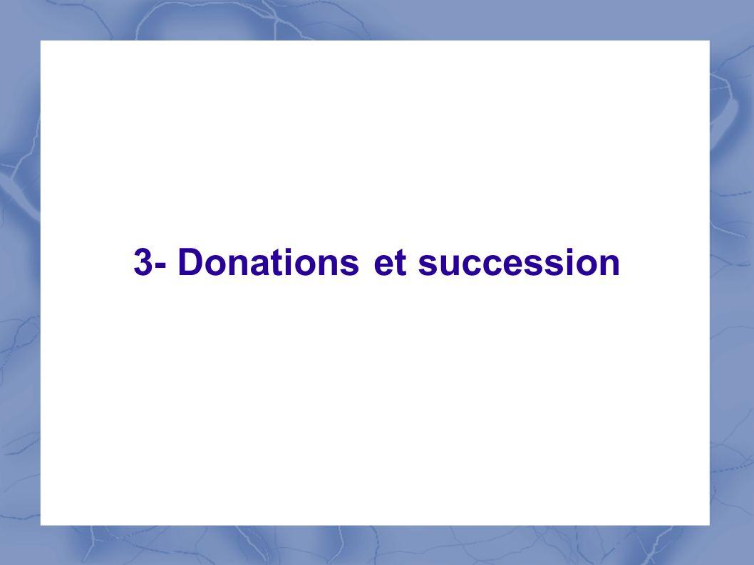 3- Donations et succession