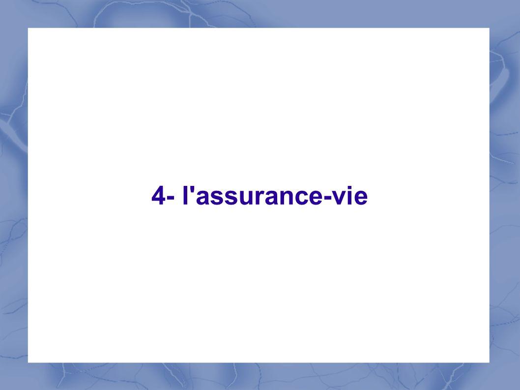4- l'assurance-vie