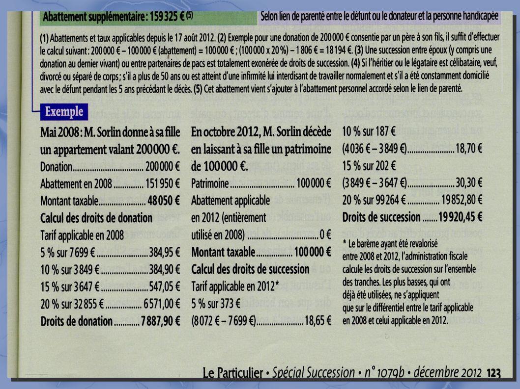 5- Calcul des droits fiscalité : exemple