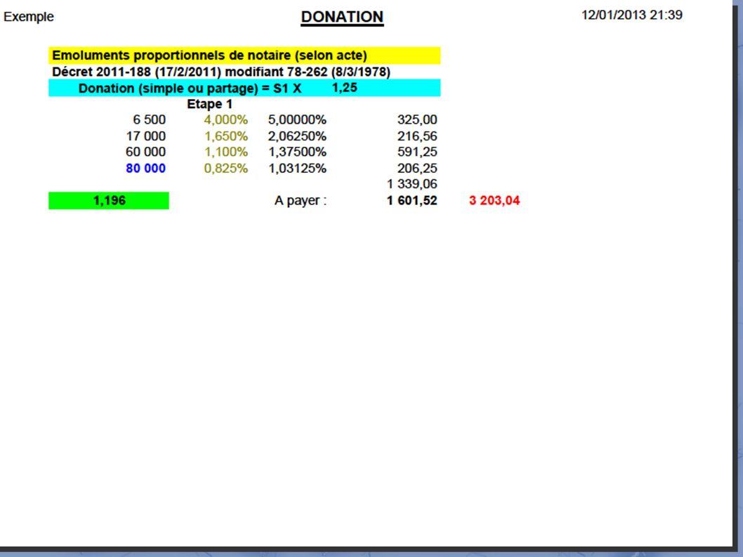 5-Rôle du notaire honoraires : donation