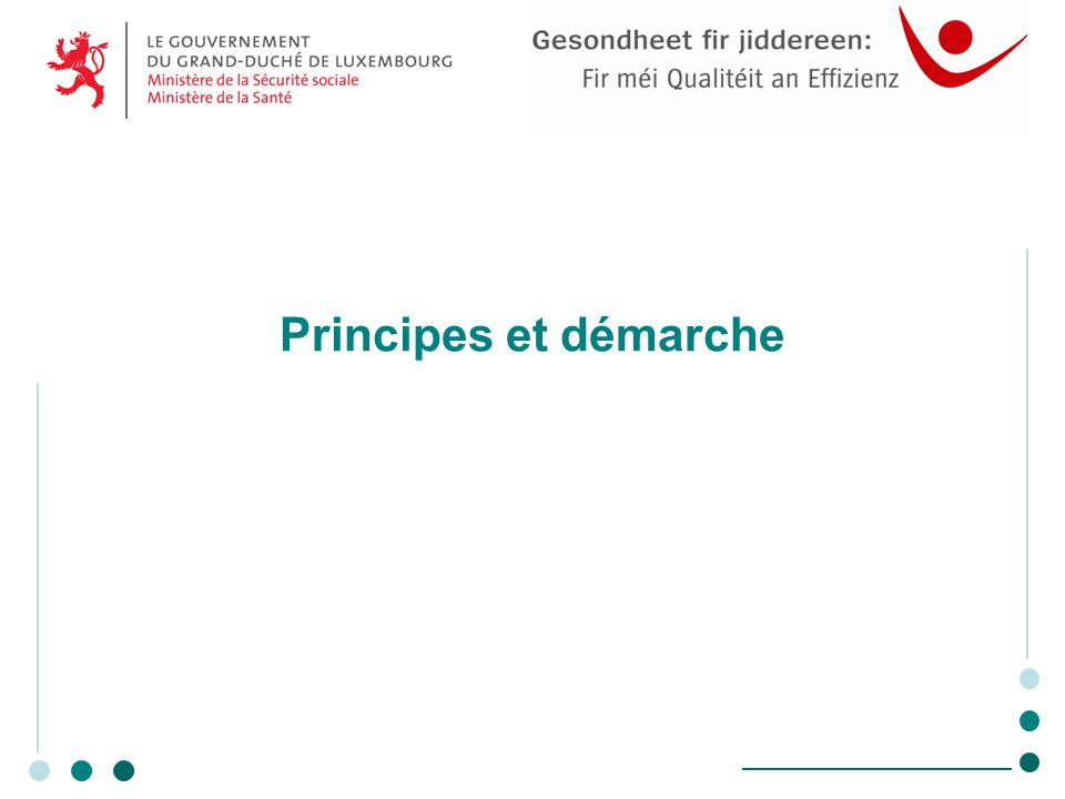 Principes et démarche