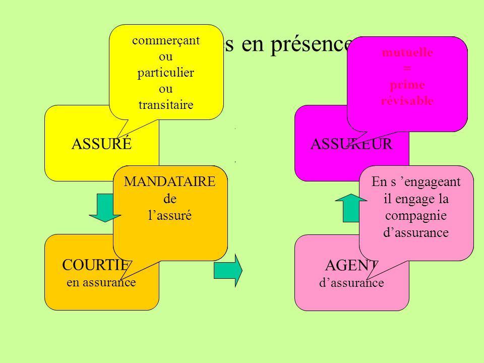 Les parties en présence ASSURÉ COMPAGNIE « A » COURTIER AGENT 2 AGENT 1 COMPAGNIE « Z » COMPAGNIE « E » COMPAGNIE « R » COMPAGNIE « T » COMPAGNIE « Y » 20% 15% CO-ASSUREUR ASSURÉ COMPAGNIE N° 1 COURTIER AGENT 1 APÉRITEUR COMPAGNIE N° 2 COMPAGNIE N° 3 COMPAGNIE N° 4 COMPAGNIE N° 5 COMPAGNIE N° 6 APÉRITEUR