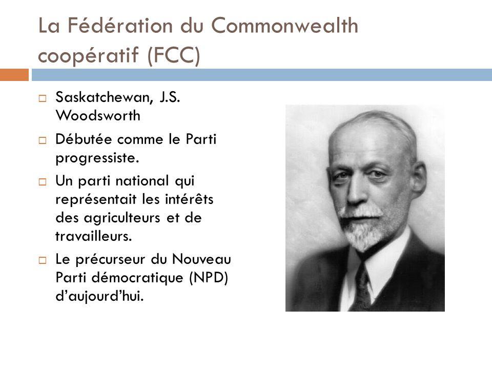 La Fédération du Commonwealth coopératif (FCC) Saskatchewan, J.S.