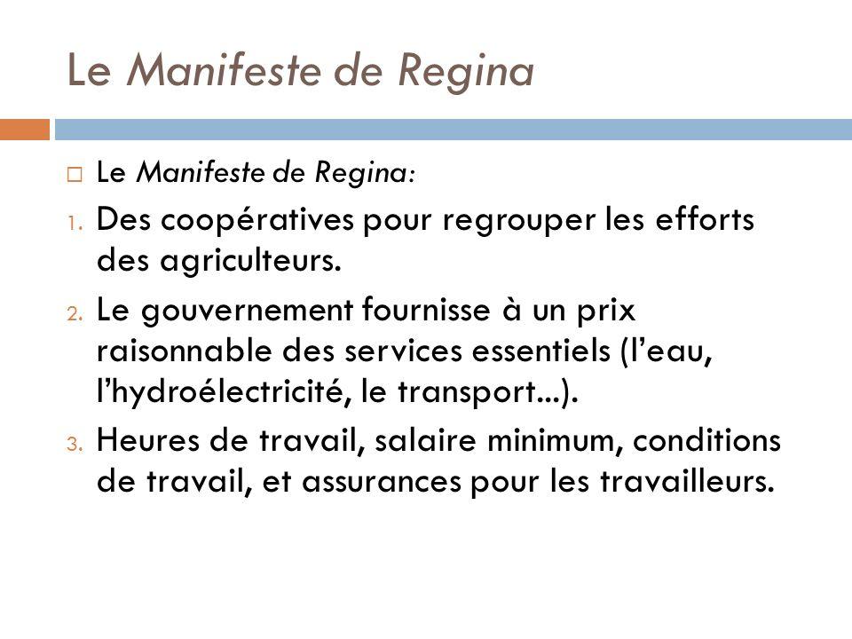 Le Manifeste de Regina Le Manifeste de Regina: 1.
