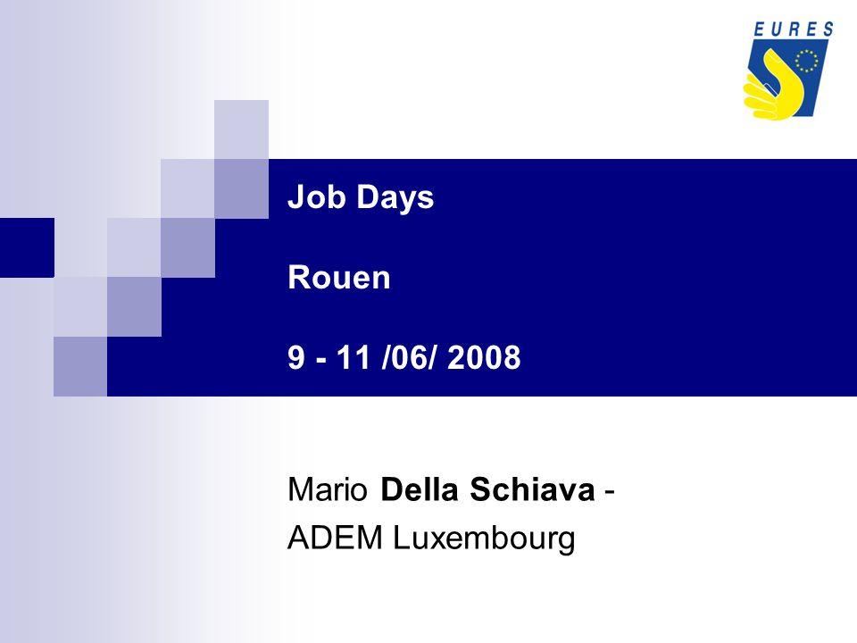 Job Days Rouen 9 - 11 /06/ 2008 Mario Della Schiava - ADEM Luxembourg