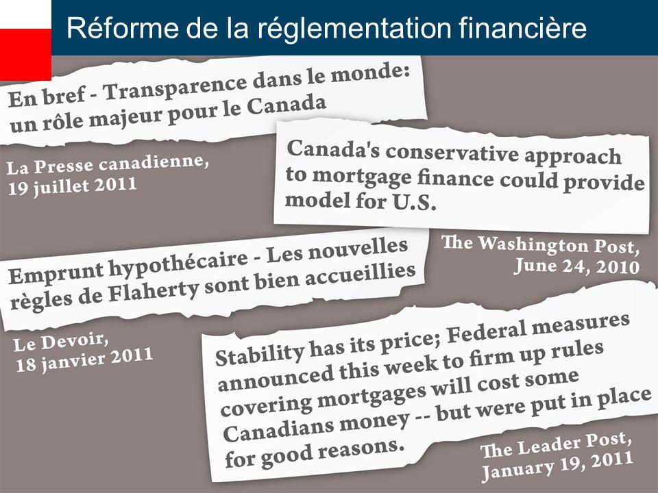Réforme de la réglementation financière