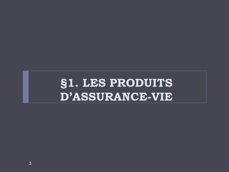 §1. LES PRODUITS DASSURANCE-VIE 2