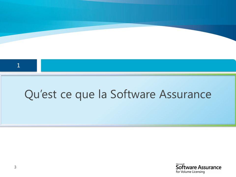 3 1 1 Quest ce que la Software Assurance