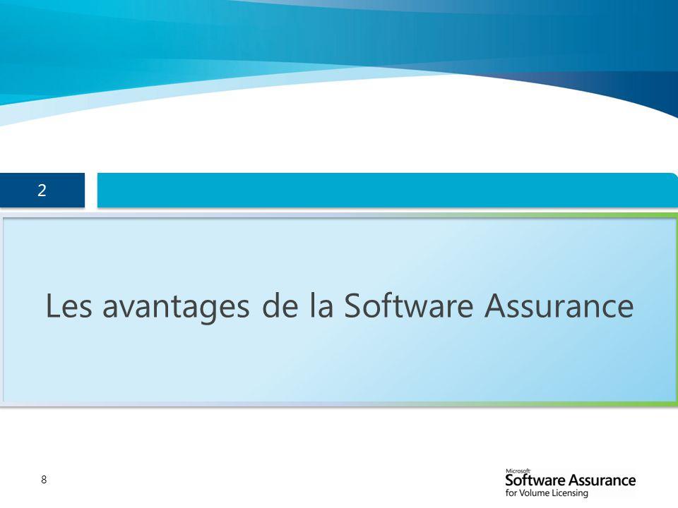 8 Les avantages de la Software Assurance 2 2