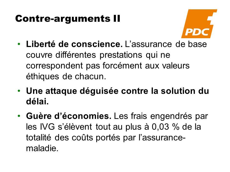 Contre-arguments III Coûts.