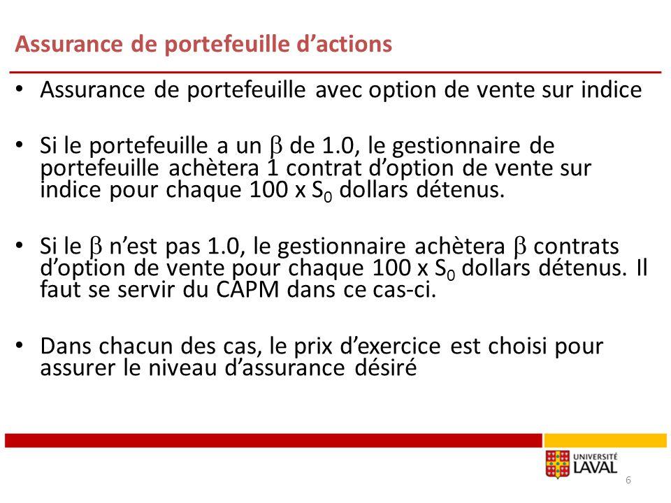 Les Lettres Grecques : Indices de sensibilités 47 Modification du Theta Option dachat: Option de vente: Option dachat: Option de vente: