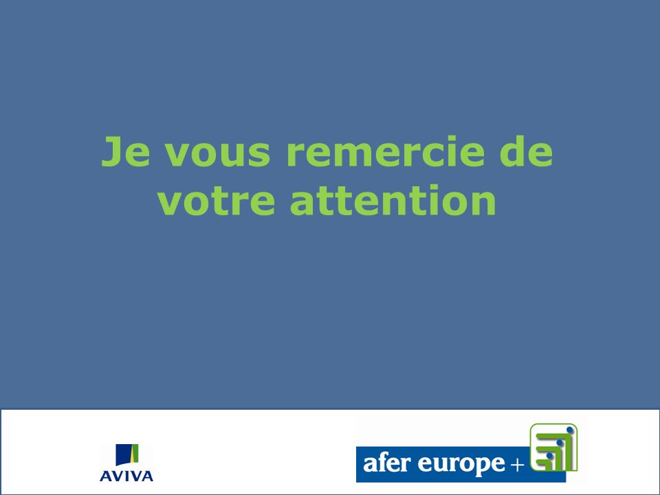 Toute léquipe des Conseillers dAFER Europe se tient à votre disposition (Noubliez pas de nous remettre votre fiche dappréciation en sortant)