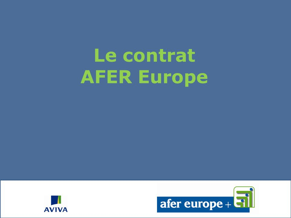 Le contrat AFER Europe