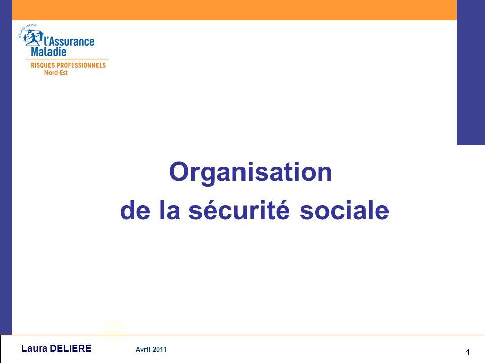 1 Avril 2011 Laura DELIERE Organisation de la sécurité sociale