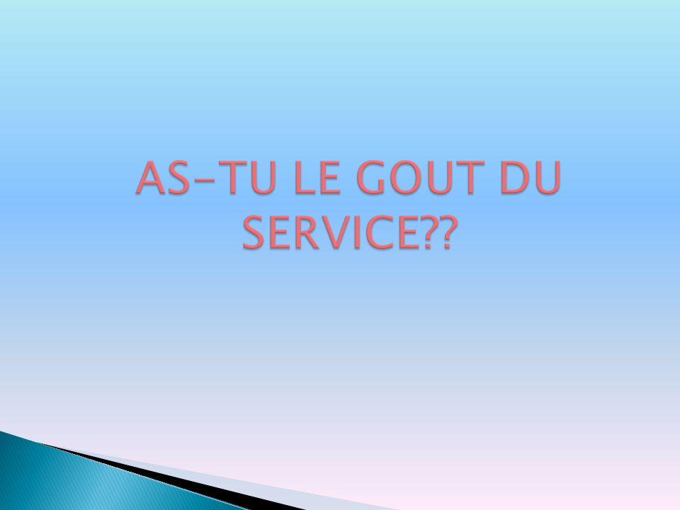 AS-TU LE GOUT DU SERVICE??