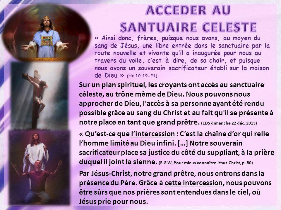 « Ainsi donc, frères, puisque nous avons, au moyen du sang de Jésus, une libre entrée dans le sanctuaire par la route nouvelle et vivante quil a inaug