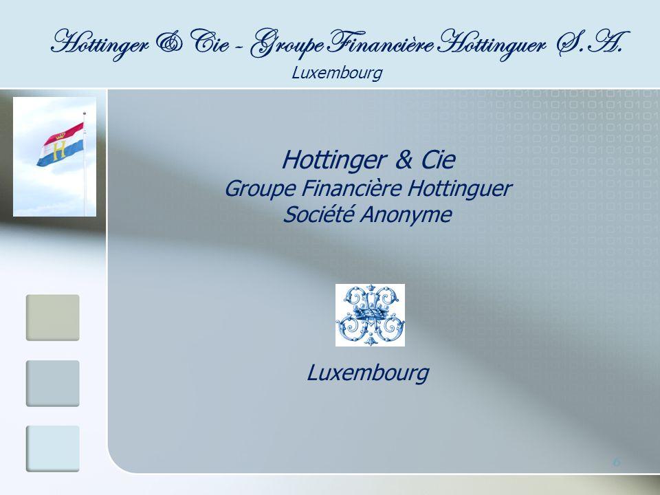 17 Assurance Vie Notre affiliée, la société « R.F Hottinger Insurance Consulting S.A.